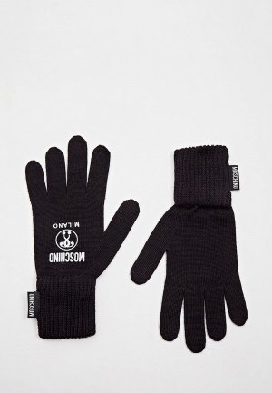 Перчатки Moschino. Цвет: черный