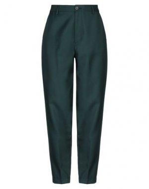 Повседневные брюки PENCE. Цвет: темно-зеленый
