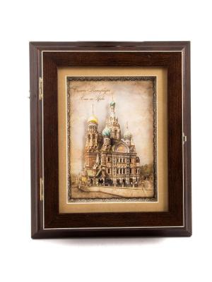 Коллаж-ключница Спас на Крови Русские подарки. Цвет: коричневый