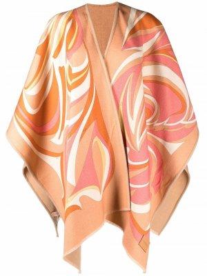 Шерстяной кейп Nuagnes Emilio Pucci. Цвет: 1-arancio/nude