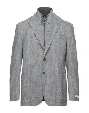 Пиджак REPORTER. Цвет: серый