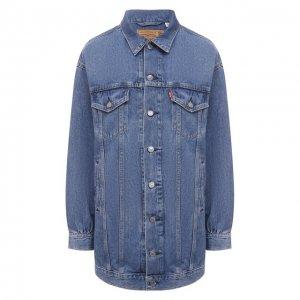 Джинсовая куртка x Levis Ganni. Цвет: синий