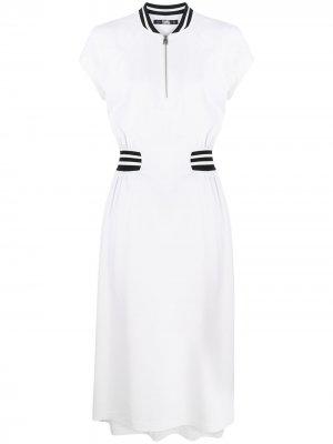Платье миди Cady Tennid Karl Lagerfeld. Цвет: белый