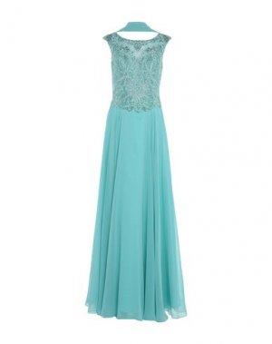 Длинное платье MIKAEL. Цвет: бирюзовый