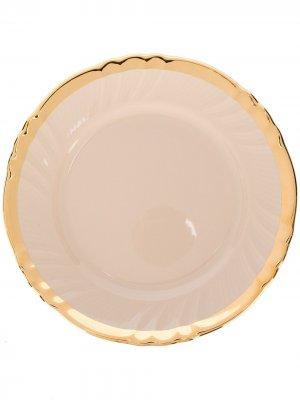 Тарелка Romantic Rim Bitossi Home. Цвет: нейтральные цвета