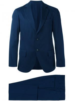 Однобортный костюм-двойка Unconstructed Mp Massimo Piombo. Цвет: синий
