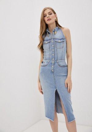 Платье джинсовое Versace Jeans Couture. Цвет: голубой