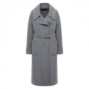 Шерстяное пальто Ermanno Scervino. Цвет: серый