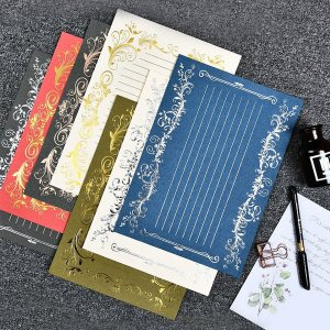 3 листа писчая бумага случайного цвета SHEIN. Цвет: многоцветный