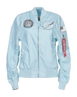 Куртка ALPHA INDUSTRIES. Цвет: небесно-голубой