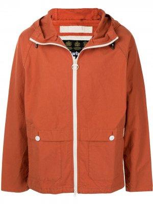 Куртка Bennet с капюшоном Barbour. Цвет: оранжевый