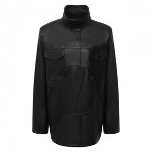 Кожаная куртка Off-White. Цвет: чёрный