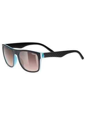 Солнцезащитные очки Uvex. Цвет: черный, синий