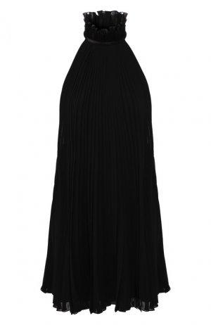 Шелковое платье Givenchy. Цвет: черный
