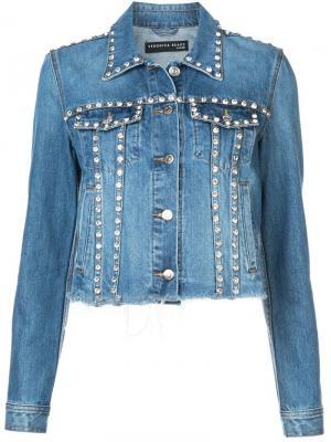 Джинсовая куртка с декором Veronica Beard. Цвет: синий