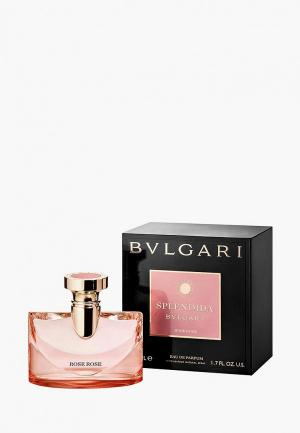 Парфюмерная вода Bvlgari Splendida Rose 50 мл. Цвет: прозрачный
