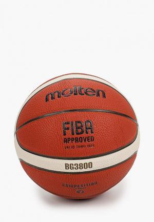 Мяч баскетбольный Molten FIBA approved. Цвет: коричневый