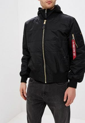 Куртка утепленная Alpha Industries MA-1 D-Tec Puffer OS. Цвет: черный
