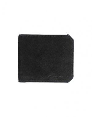 Бумажник SANTONI. Цвет: черный