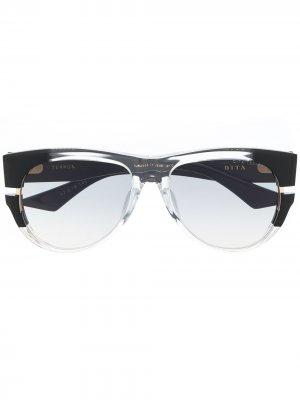 Солнцезащитные очки Terror в оправе кошачий глаз Dita Eyewear. Цвет: черный