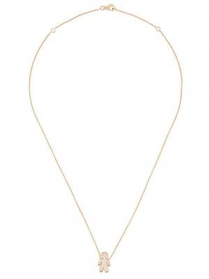 Колье Masha из розового золота с бриллиантами ALINKA. Цвет: золотистый