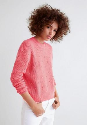 Джемпер Mango - ROUNDS. Цвет: розовый