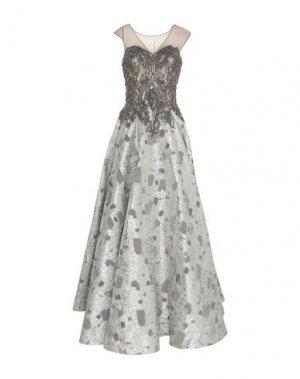Длинное платье LEXUS. Цвет: серебристый