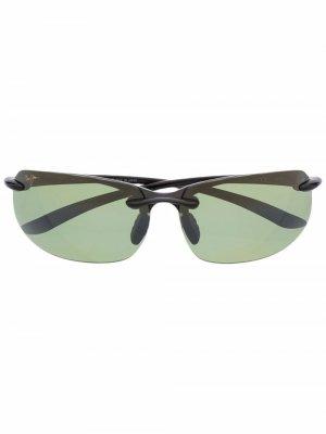 Солнцезащитные очки Banyans в прямоугольной оправе Maui Jim. Цвет: черный