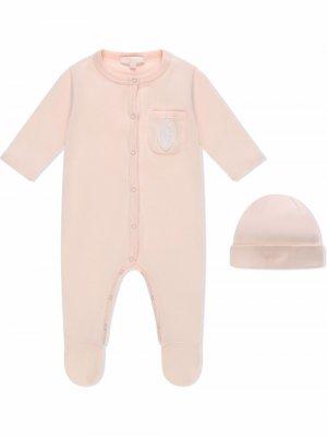 Пижама с нашивкой-логотипом Chloé Kids. Цвет: розовый