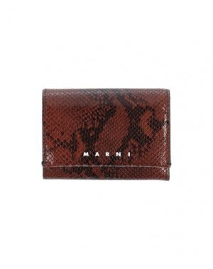 Бумажник MARNI. Цвет: коричневый
