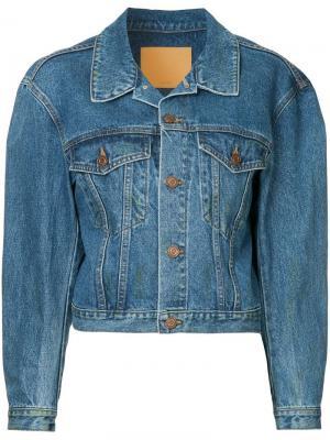 Укороченная джинсовая куртка We11done. Цвет: синий