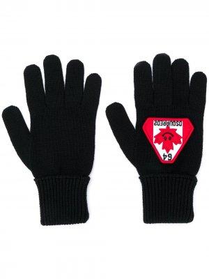 Трикотажные перчатки Canada с нашивкой-логотипом Dsquared2. Цвет: черный