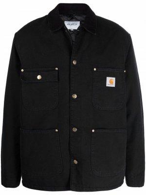 Парусиновая куртка-рубашка Carhartt WIP. Цвет: черный
