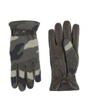 Перчатки VALENTINO GARAVANI. Цвет: зеленый-милитари