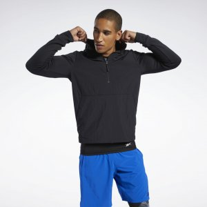 Джемпер Speedwick Quarter-Zip Reebok. Цвет: black