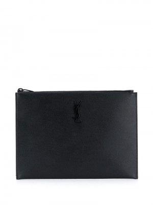 Чехол для iPad с логотипом Saint Laurent. Цвет: черный