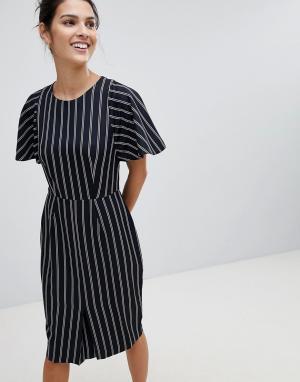 Платье-футляр в полоску Closet London