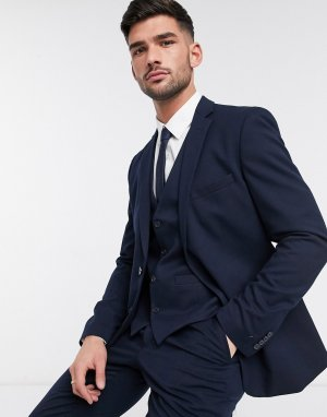 Узкий фланелевый пиджак wedding-Голубой French Connection