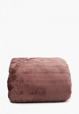 Плед Эго 180х200 см. Цвет: коричневый