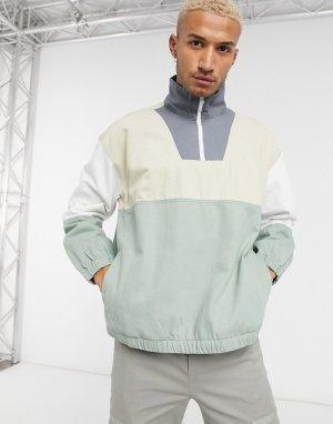 Куртка-пуловер в стиле колор блок-Мульти Bershka