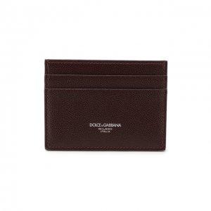 Кожаный футляр для кредитных карт Dolce & Gabbana. Цвет: красный