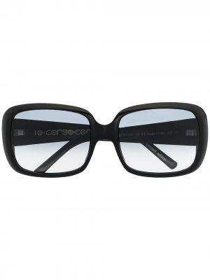 Солнцезащитные очки в квадратной оправе 10 CORSO COMO. Цвет: черный