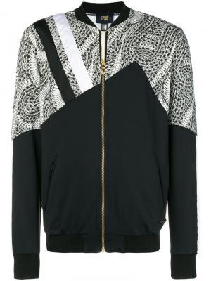 Куртка-бомбер с принтом Cavalli Class. Цвет: черный