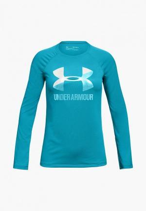 Лонгслив спортивный Under Armour Big Logo Long Sleeve. Цвет: голубой