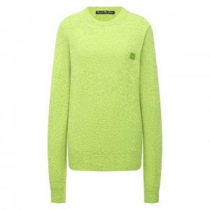 Шерстяной пуловер Acne Studios. Цвет: зелёный