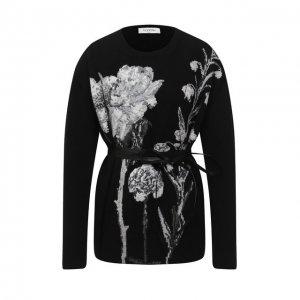 Пуловер из шерсти и кашемира Valentino. Цвет: чёрно-белый