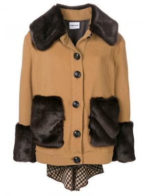 Faux fur trim jacket Au Jour Le. Цвет: коричневый