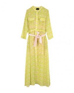 Длинное платье ATOS LOMBARDINI. Цвет: светло-зеленый