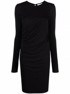 Трикотажное платье с круглым вырезом Salvatore Ferragamo. Цвет: черный