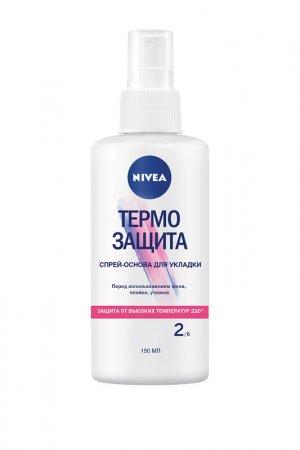 Спрей-основа для укладки волос NIVEA. Цвет: белый
